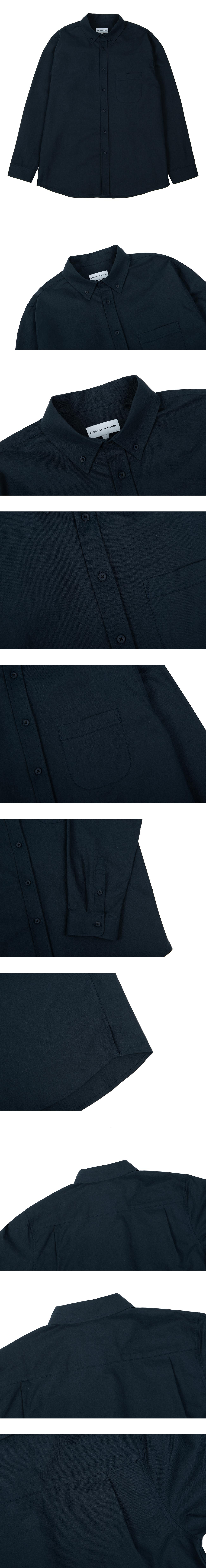커스텀어클락(COSTUME O'CLOCK) 옥스포드 베이직 셔츠 네이비