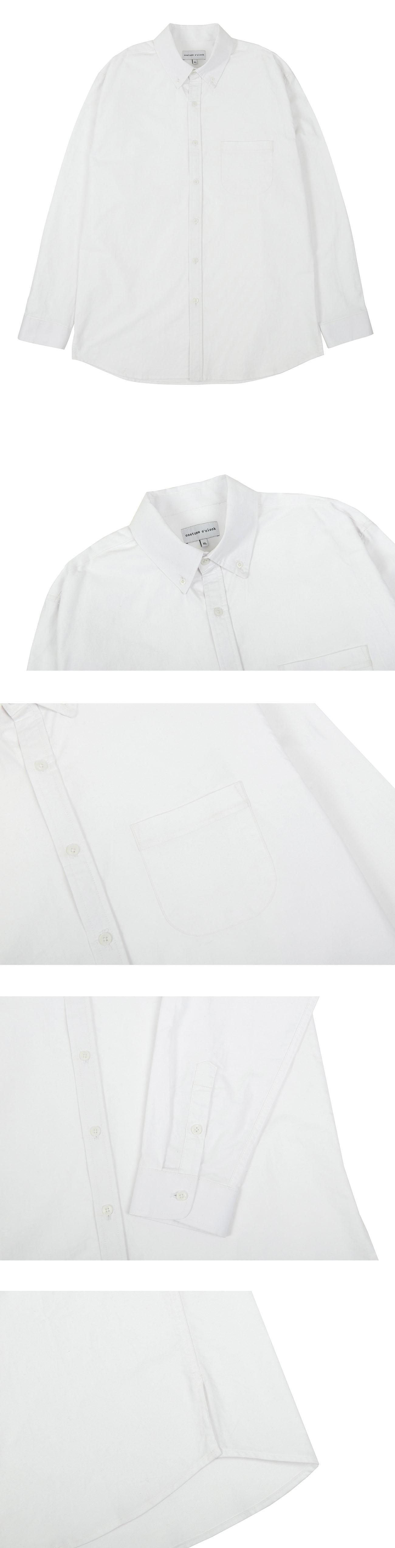 커스텀어클락(COSTUME O'CLOCK) 옥스포드 베이직 셔츠 화이트