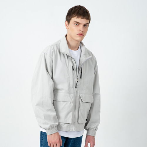 CONTEMPORARY CROP FIELD JACKET L.GRAY