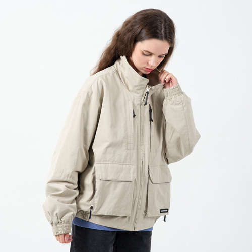 CONTEMPORARY CROP FIELD JACKET L.BEIGE