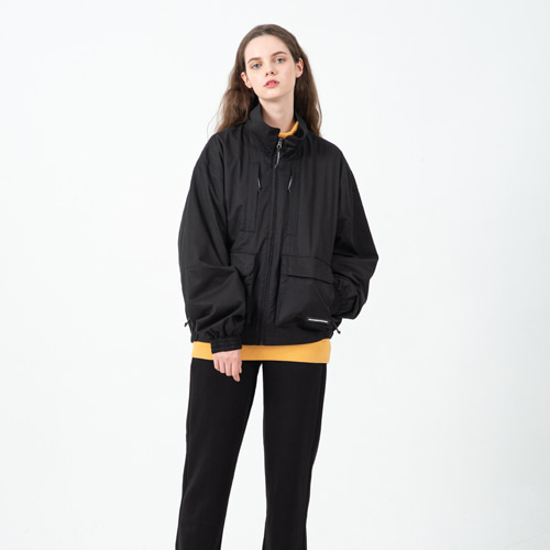 CONTEMPORARY CROP FIELD JACKET BLACK