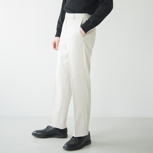 9th year SOFT WIDE 2H LINE SLACKS L.BEIGE