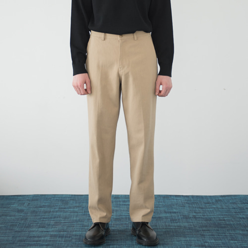 [커스텀어클락] 9th year BIO WASHING 2H LINE COTTON PANTS BEIGE