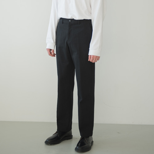 [커스텀어클락] 9th year BIO WASHING 2H LINE COTTON PANTS BLACK
