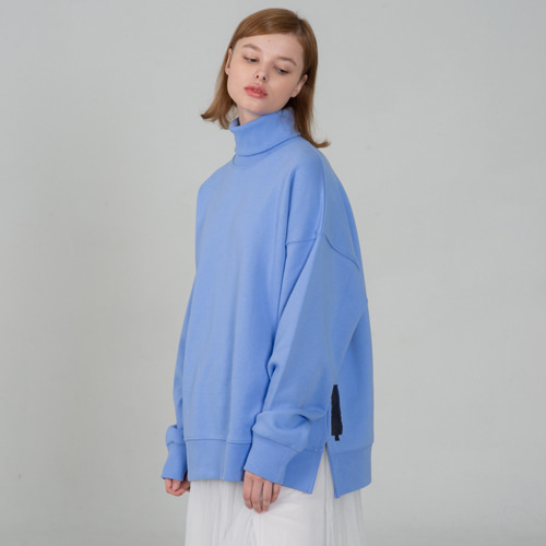 [세컨모놀로그] SECONDMONOLOGUE TURTLE-NECK SWEAT SHIRTS SE.BLUE