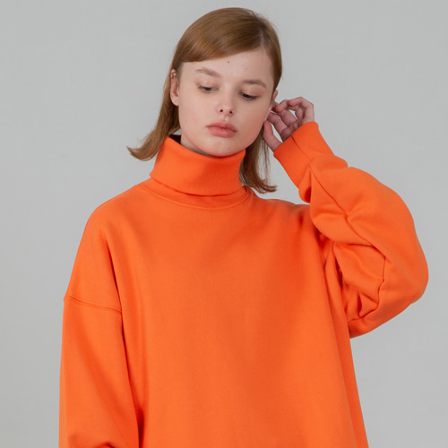 [세컨모놀로그] SECONDMONOLOGUE TURTLE-NECK SWEAT SHIRTS ORANGE