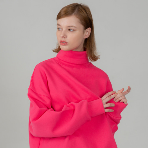 [세컨모놀로그] SECONDMONOLOGUE TURTLE-NECK SWEAT SHIRTS PINK