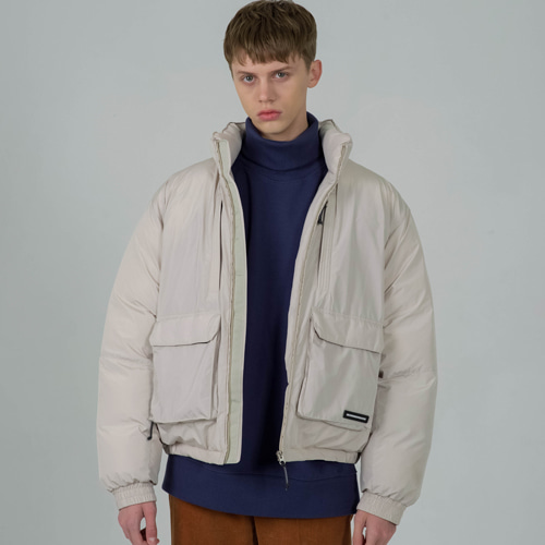 [세컨모놀로그] CONTEMPORARY AIR FORCE PADDING L.BEIGE