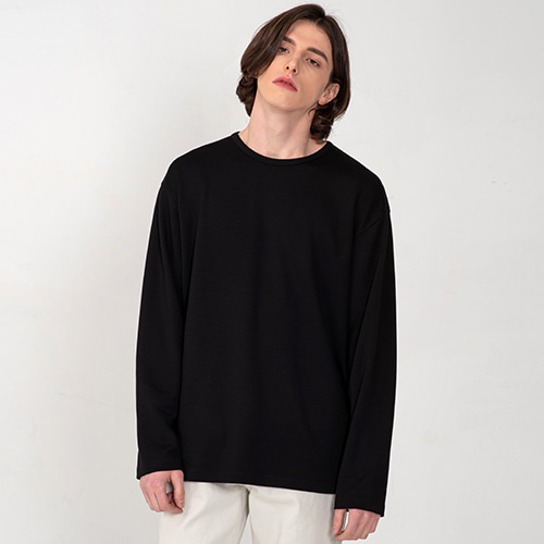 [3/5(목) 예약배송] [커스텀어클락] ESSENTIAL LONG SLEEVE T-SHIRTS BLACK