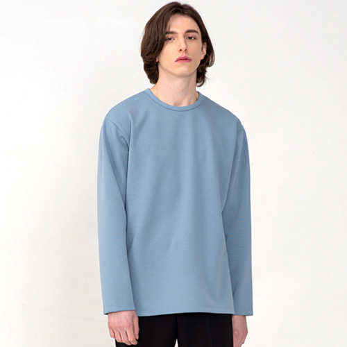 [3/5(목) 예약배송] [커스텀어클락] ESSENTIAL LONG SLEEVE T-SHIRTS PASTELBLUE