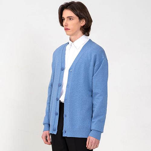 [커스텀어클락] SOFT BASIC CARDIGAN VINTAGE LIGHTBLUE