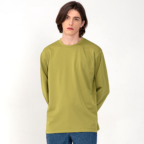 [3/5(목) 예약배송] [커스텀어클락] ESSENTIAL LONG SLEEVE T-SHIRTS AVOCADO