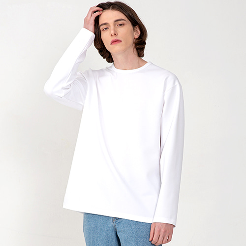 [3/5(목) 예약배송] [커스텀어클락] ESSENTIAL LONG SLEEVE T-SHIRTS WHITE