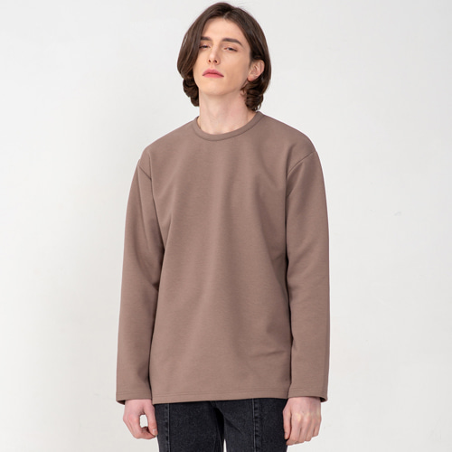 [3/5(목) 예약배송] [커스텀어클락] ESSENTIAL LONG SLEEVE T-SHIRTS BROWN