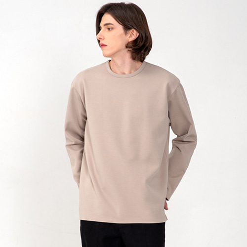 [3/13(금) 예약배송] [커스텀어클락] ESSENTIAL LONG SLEEVE T-SHIRTS BEIGE