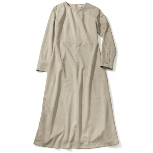 [몽돌] WOOL BASIC DAILY DRESS BEIGE