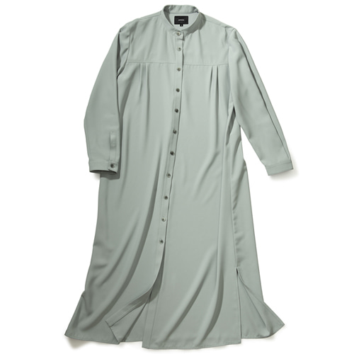 [몽돌] HENLEY NECK SHIRTS DRESS S.BLUE