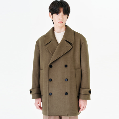 [커스텀어클락] 90s HEAVY WEIGHT WOOL PEA COAT L.BROWN