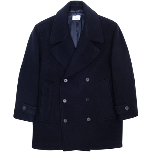 [커스텀어클락] 90s HEAVY WEIGHT WOOL PEA COAT NAVY