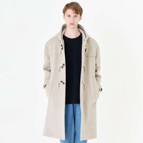 [커스텀어클락] 90s HEAVY WEIGHT WOOL DUFFEL COAT L.BEIGE