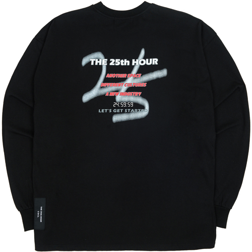 [THE 25th HOUR] 245959 OVERSIZED SWEAT SHIRTS BLACK