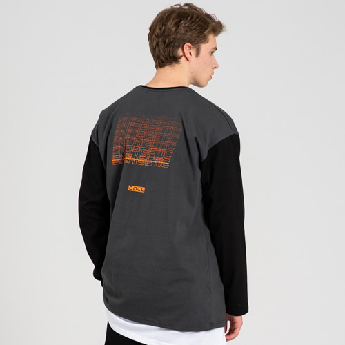 [THE 25th HOUR] ENERGETIC LONG SLEEVE T-SHIRT DARKGRAY