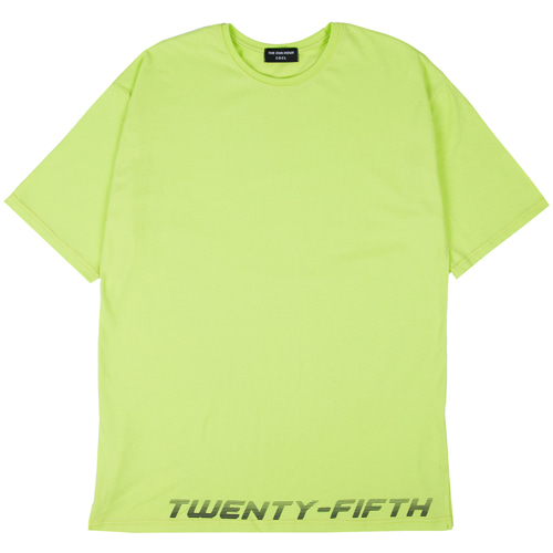 [THE 25th HOUR] 25th HOUR LAYERED SHORT SLEEVE T-SHIRT FLUORESCENCE