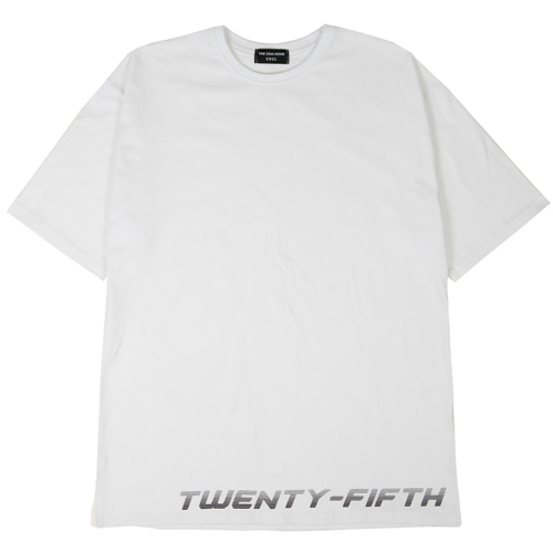[THE 25th HOUR] 25th HOUR LAYERED SHORT SLEEVE T-SHIRT WHITE