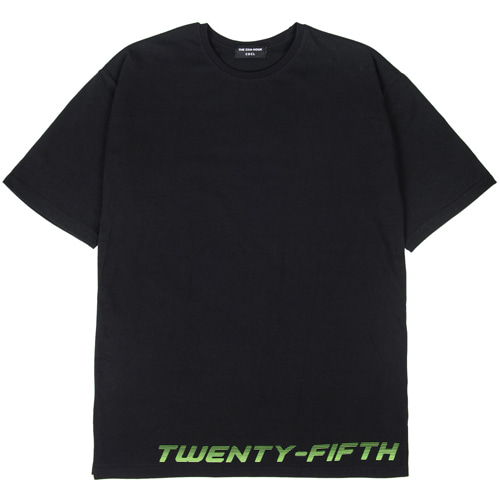 [THE 25th HOUR] 25th HOUR LAYERED SHORT SLEEVE T-SHIRT BKFL