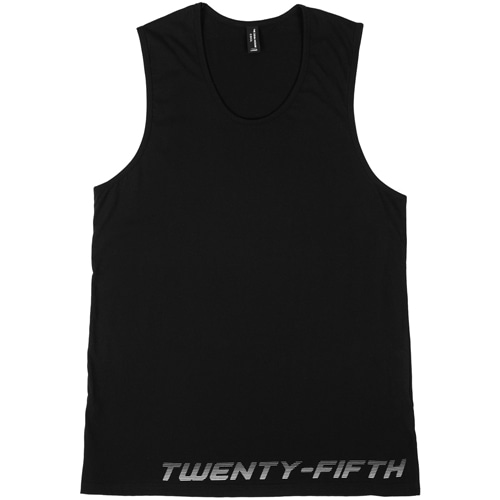 [THE 25th HOUR] 25th HOUR LAYERED SLEEVELESS TEE BKWH