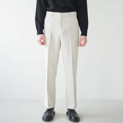 [커스텀어클락] 9th year SOFT WIDE 2H LINE SLACKS L.BEIGE