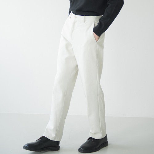 [커스텀어클락] 9th year BIO WASHING 2H LINE COTTON PANTS L.BEIGE
