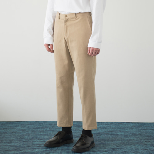 [커스텀어클락] 9th year BIO WASHING CROP COTTON PANTS BEIGE