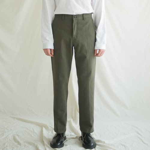 9th year BIO WASHING 2H LINE COTTON PANTS KHAKI