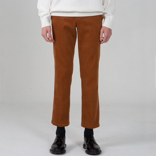 8W CORDUROY H LINE PANTS BROWN