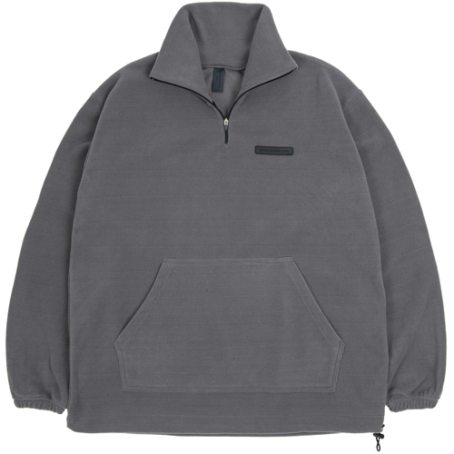 SECONDMONOLOGUE FLEECE ANORAK D.GRAY