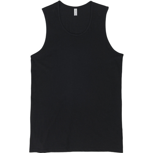 [커스텀어클락] LAYERED SLEEVELESS TEE BLACK