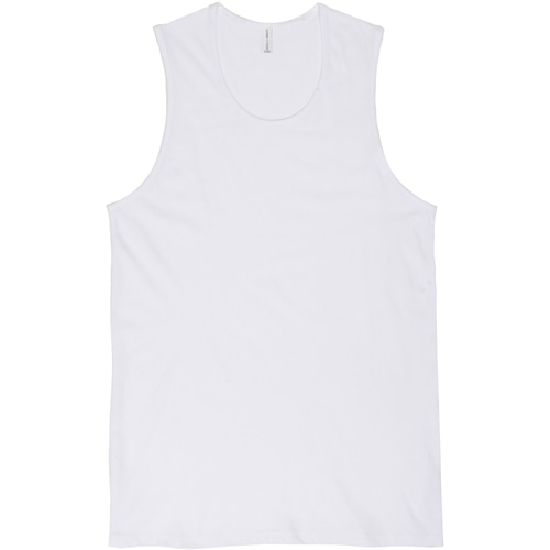 [커스텀어클락] LAYERED SLEEVELESS TEE WHITE