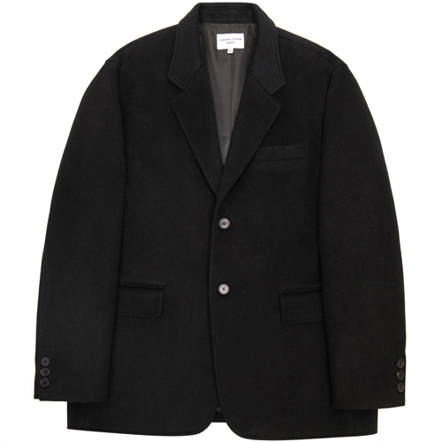 [커스텀어클락] 2BUTTON WOOL SINGLE JACKET BLACK
