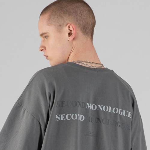 [세컨모놀로그] DOUBLE SECONDMONOLOGUE SHORT SLEEVE T-SHIRT GRAY