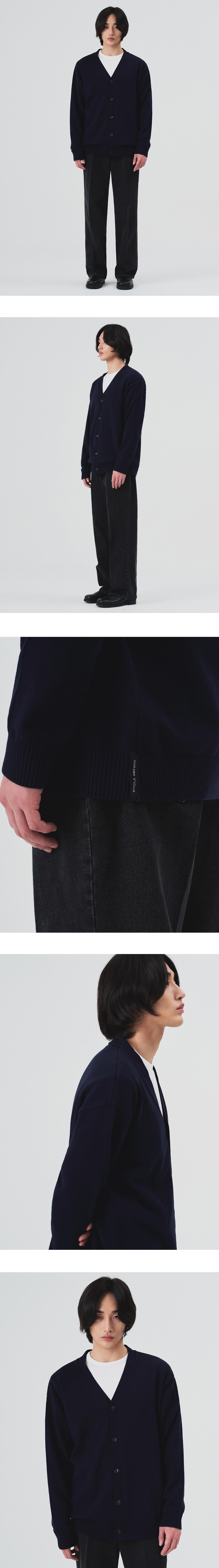 커스텀어클락(COSTUME O'CLOCK) 소프트 베이직 가디건 네이비